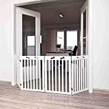 Trixie 39457 Hunde-Absperrgitter, 4-teilig, 60-160 x 75 cm, weiß