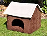 nanook Hundehöhle Katzenhöhle XL Chalet Cosy Dog Cat Kennel kratzfest formstabil braun 60 cm
